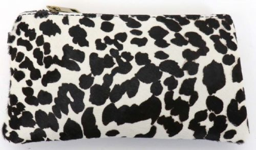Leather Animal Print Purse/Wallet - Cow
